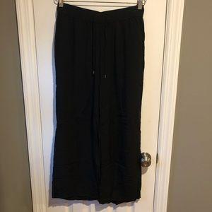 Black wide leg soft pants